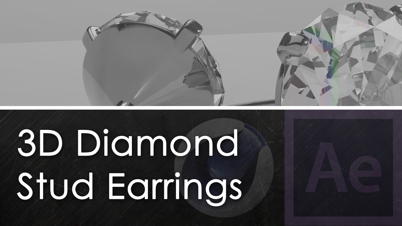 3D Diamond Stud Earrings product demo